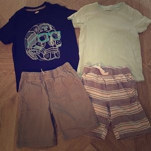 Bundle of 2 Tshirts Shorts Outfits Size 6